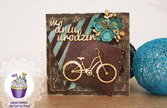 Pracownia artystyczna IKart: Kartka urodzinowa dla rowerzysty Louis Vuitton Monogram, Decoupage, Scrapbooking, Pattern, Patterns, Scrapbooks, Model, Memory Books, Louis Vuitton