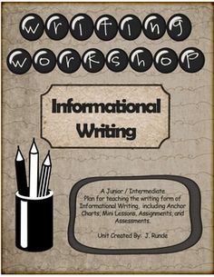 This writing workshop unit is a complete one month plan for writing an informational report.  Included in the 47 pages are 12 full lesson plans, a ...