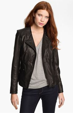 84679b8bebe Bod & Christensen Leather Jacket. Saw this at Nordstroms | My Style ...