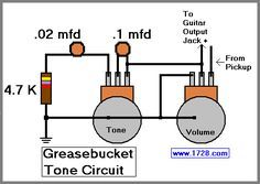 Greasebucket tone circuit for guitar