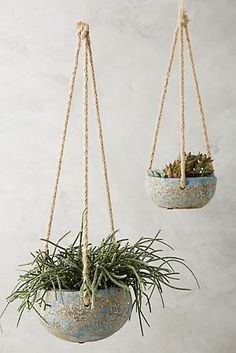 How to Make DIY Pretty Lace Cement Planters- Inspired by Anthropologie? Create a beautiful lace cement planters on a budget. Who doesn't love a good bargain and some beautiful home decor?, Check more at. Diy Concrete Planters, Outdoor Planters, Hanging Planters, Planter Pots, Indoor Outdoor, Clay Planter, Wall Planters, Succulent Planters, Planter Ideas