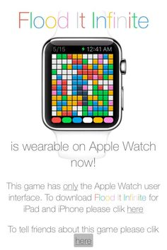 Flood It Infinite is #wearable on #AppleWatch now! https://itunes.apple.com/us/app/id1022890173 … Promocodes are available
