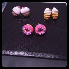 Cute Doughnut, Ice Cream And Cupcake Earrings