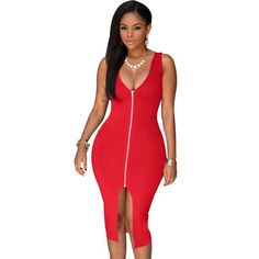 9a4b30b039f2a1 HAOYUAN S 4XL 2018 Sexy Dress Club Plus Size Women Party Dresses Bodycon  Sundress Package Hip Blue Red White Black Summer Dress-in Dresses from  Women s ...