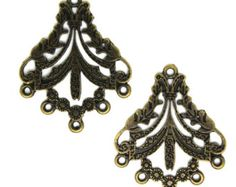 10 PC Antique Bronze Tone  Chandelier, Earring Pendant. Ships from USA.