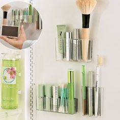 """First of all, just the name """"MagnaPods"""" makes me want to run right out and snatch some of these up. But besides that, these would be fantastic for the bathroom. I could keep my makeup out of the reach of prying little fingers and off of the countertop"""