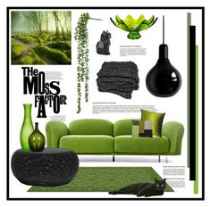 """""""Moss"""" by oregonelegance ❤ liked on Polyvore featuring interior, interiors, interior design, home, home decor, interior decorating, GET LOST, Moooi, PyroPet and Pillow Decor"""