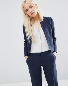 ASOS+Crop+Tailored+Blazer+in+Crepe