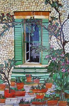 Garden Mosaic ~ by Judith Scallon