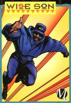 Meet the invulnerable Muslim superhero, WISE SON! Created by the great Dwayne McDuffie! Dc Heroes, Comic Book Heroes, Comic Books, Comic Art, Funny Comics, Dc Comics, Female Superheroes And Villains, Black Comics, Female Pilot