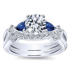 Carrie 14k White Gold Round 3 Stones Engagement Ring angle 4