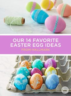 14 Fun Easter Egg Ideas to have the most beautiful and unique Easter eggs. Use rubber bands, stickers, and even chalkboard paint to dress your eggs.