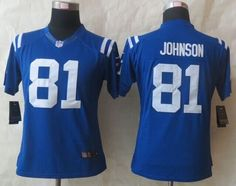 "$23.88 at ""MaryJersey""(maryjerseyelway@gmail.com) Nike Colts 81 Andre Johnson Royal Blue Team Color Women Stitched NFL Limited Jersey"