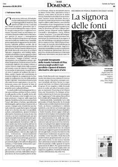 Su #Domenica - Il Sole 24 ORE un articolo di Salvatore #Settis in memoria della compianta Paola #Barocchi.