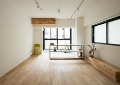 """Renovated Japanese apartment featuring an """"interior balcony""""."""