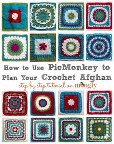 Plan a crochet afghan layout with PicMonkey