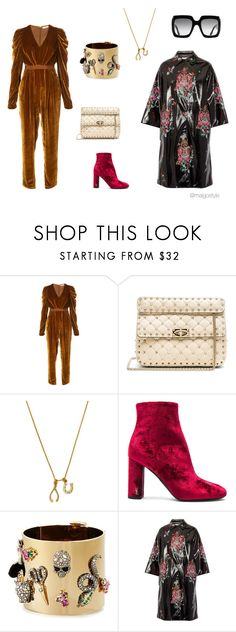 """""""Untitled #62"""" by nerdygets on Polyvore featuring Ulla Johnson, Valentino, Chrysalis, Yves Saint Laurent, Alexis Bittar, Miu Miu and Gucci"""