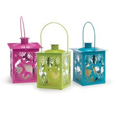 Brighten up your spring season with these cheery metal lanterns!    Get yours at Old Time Pottery today!
