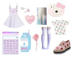 """""""Untitled #76"""" by tumblr-pastel ❤ liked on Polyvore featuring Bing Bang, Topshop, Monsoon, Hello Kitty and Prada"""
