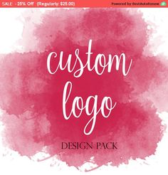 Check out this item in my Etsy shop https://www.etsy.com/listing/292021947/custom-logo-design-logo-design