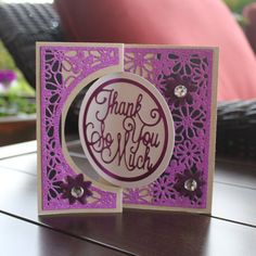 Created by Crystal Schneider with the Circle Centre Card die set from Flip Cards, Die Cut Cards, Crafters Companion Gemini, Swing Card, Shaped Cards, Card Crafts, Crafty Projects, Card Designs, Die Cutting