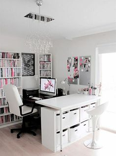 ▷ Great Ideas on How to Design Your Home Office – … - Decoration Home Office Space, Home Office Design, Home Office Decor, Office Ideas, Small Office, Desk Space, Office Designs, Corner Office, Apartment Office