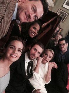 At the London premiere of *Beauty and the Beast* (Luke Evans, Emma Watson, Dan Stevens, Emma Thompson & Josh Gad)