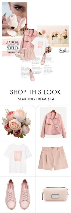 """""""Smell pink..."""" by bbiillggeess ❤ liked on Polyvore featuring MANGO, McQ by Alexander McQueen, H&M, Marc Jacobs and bbiillggeess"""