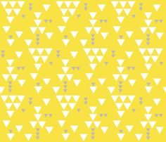 yellow gray triangle fall fabric by ivieclothco on Spoonflower - custom fabric