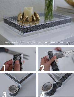 DIY | Spring Lucite Trays (2 Ways) with @Scott Doorley Buxman Colors and Patterns Duct Tape