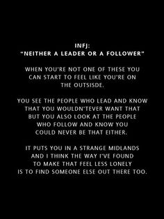 INFJ/ yes! It in maddening!  I have learned to do both when needed, but I am not good at either one for long periods of time. I will not lead those who expect to blame me for their mistakes, and I will not follow someone who doesn't know how to understand me. Yes it's paradoxical! Lol.