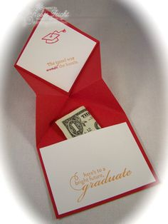Graduation Cap pocket Card