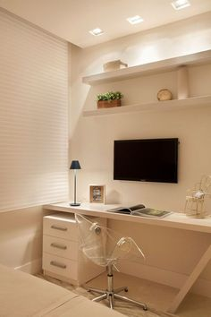 Browse pictures of home office design. Here are our favorite home office ideas that let you work from home. Home Office Design, Home Office Decor, House Design, Home Decor, Office Ideas, Home Bedroom, Bedroom Decor, Bedrooms, Bedroom Small