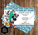 Disney Mickey Mouse Pool Party Invitation
