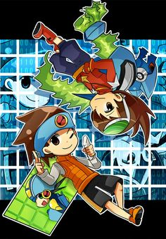 Cross-Over Megaman nt warrior  N Megaman starforce Geo and netto And Omega xis and Megaman