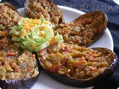 berenjenas rellenas de verduras, una receta muy fácil y rica para comer sano