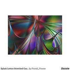 Splash Lattice Stretched Canvas Print