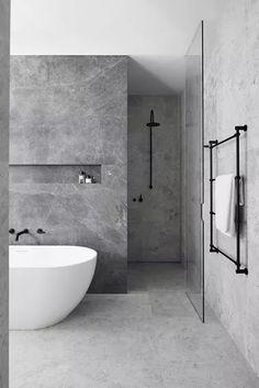 Grey Bathrooms Designs, Bathroom Tile Designs, Modern Bathroom Design, Bathroom Interior Design, Bathroom Ideas, Bathroom Organization, Bathroom Storage, Bath Design, Bathroom Inspo