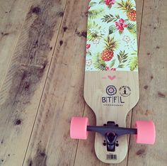 This is Polly. She loves to cruise around.  Longboard // Girls // BTFL