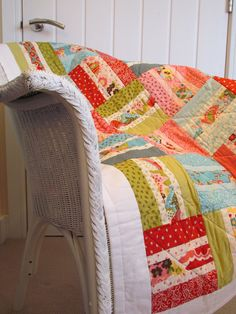 Handmade Baby Lap Throw Quilt in Moda's Sophie