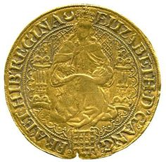 This Elizabeth I Fine Sovereign Sixth Issue coin was issued between 1583 and 1600.  Only seven are known to exist.