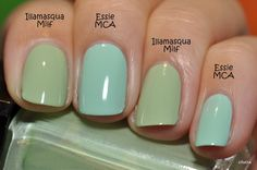 Spaz & Squee: Brand: Essie - great site for comparing nail polish colors