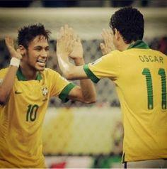 Neymar and Oscar Brazil national football team