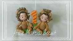 Topo de bolo Floresta Velas em biscuit diversos temas.