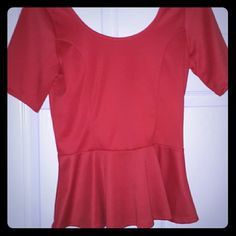 ????Coral peplum top size medium worn once Coral peplum low back top fits like medium Tops