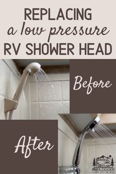 RV Shower Faucet and Shower Head Replacement, shower head rainfall,