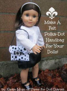 Make A Felt Handbag For Your Dolls