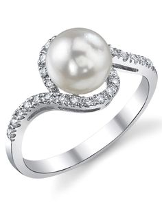 Pearl engagement ring?Yes pahlease. If only they didn't fade so quickly!