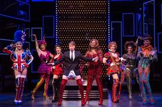 """""""Kinky Boots"""" offers fabulous fun and fantastic footwear with a tale of a factory retooled to make boots for drag queens. The musical comedy with songs by Cyndi Lauper is playing at the Buell Theatre in Denver from Oct. 29 through Nov. Kinky Boots Musical, Chicago Live, Ok Kid, New York Broadway, Harvey Fierstein, Broadway Costumes, Fabulous Fox, Cyndi Lauper, Live Events"""