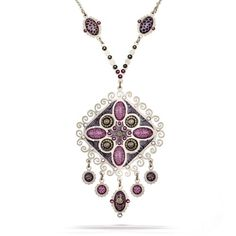 Artazia Purple with a Touch of Lime Tone Orchid Mist Fashion Necklace N5913 * Details can be found by clicking on the image.